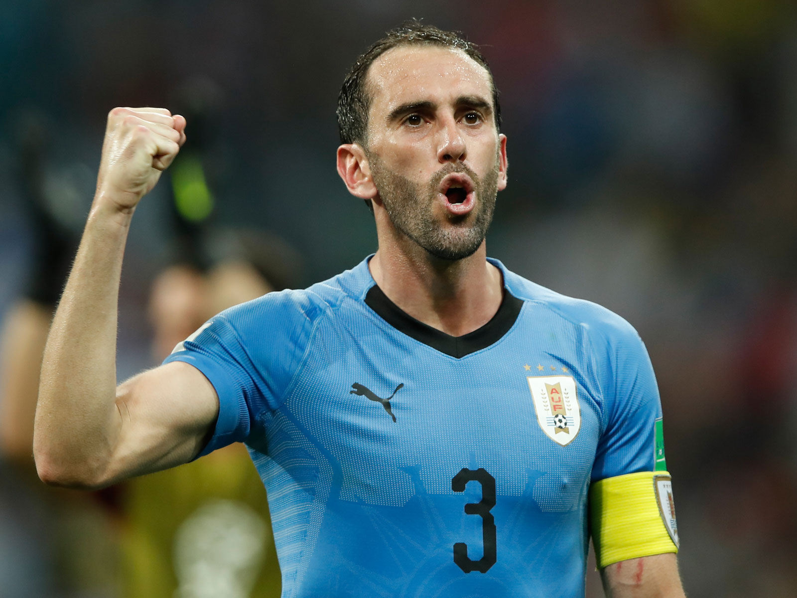 Diego Godin starred for Uruguay at the World Cup