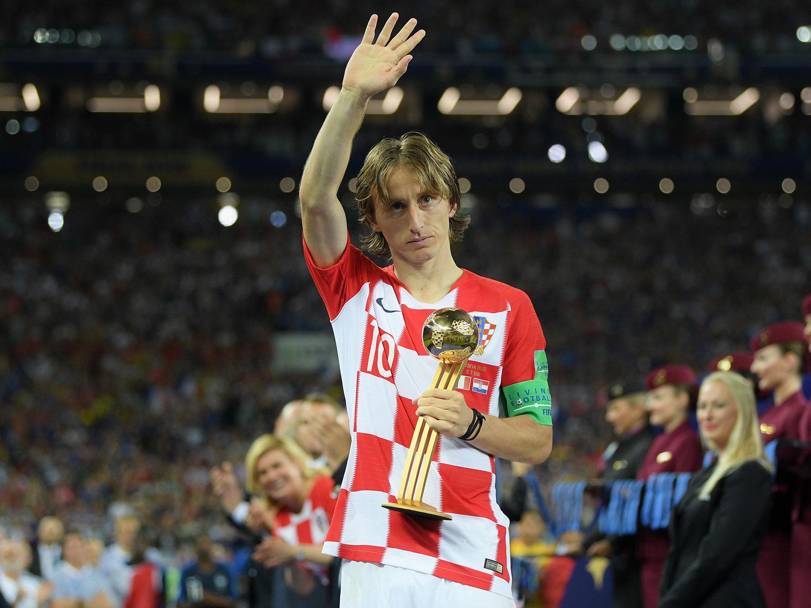 Luka Modric won the World Cup's golden ball