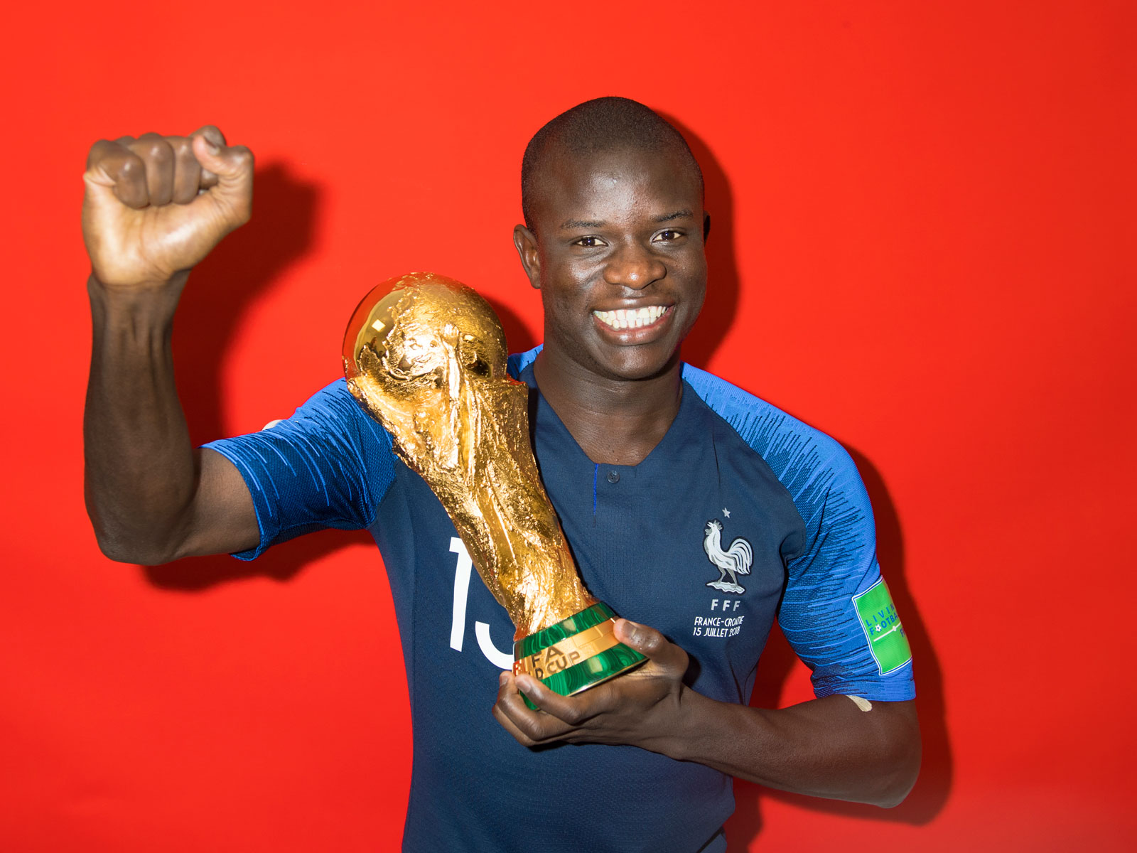 N'Golo Kante starred for France at the World Cup