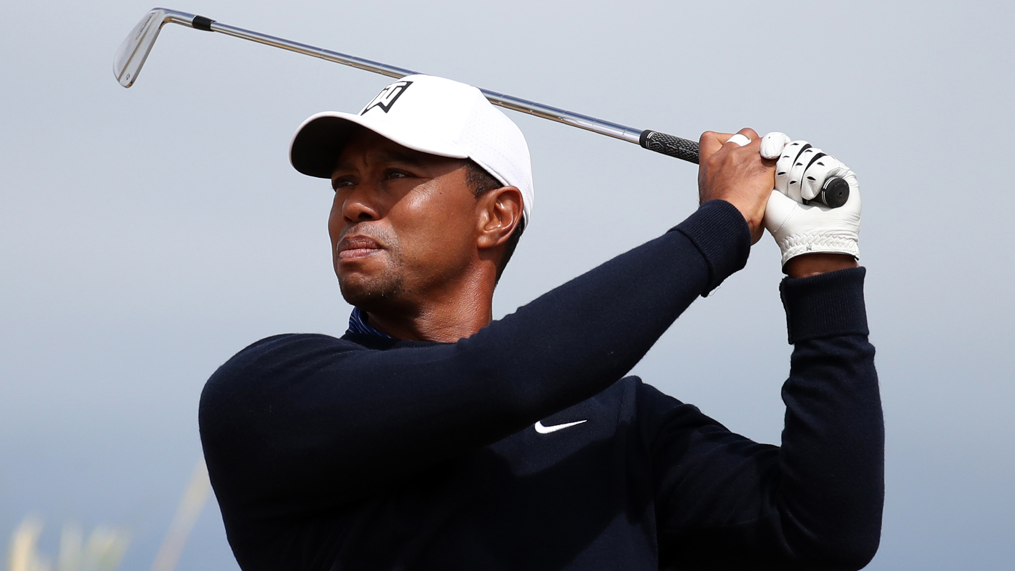 Tiger Woods driver driving iron carnoustie british open