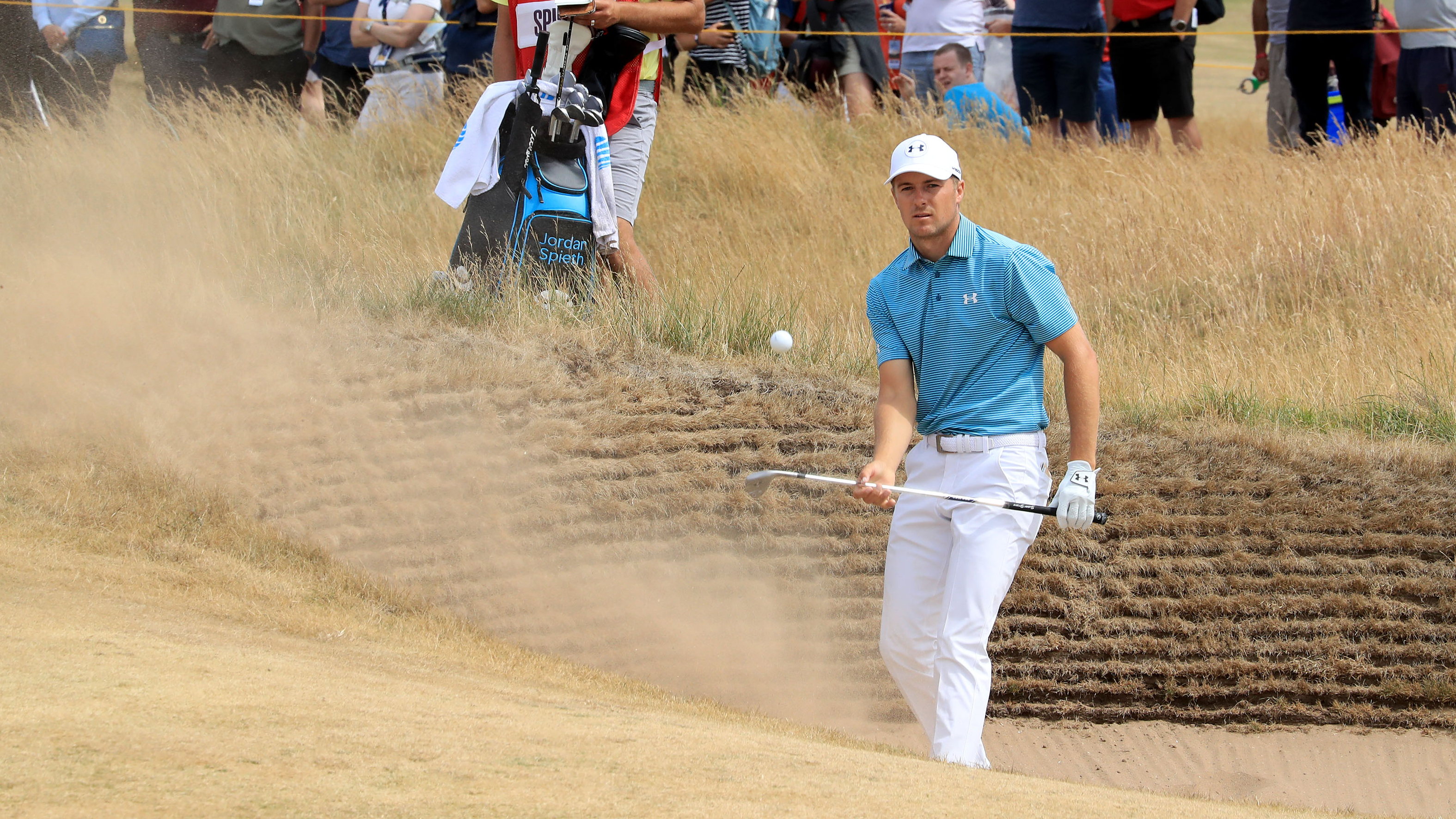 Jordan Spieth british open thursday carnoustie