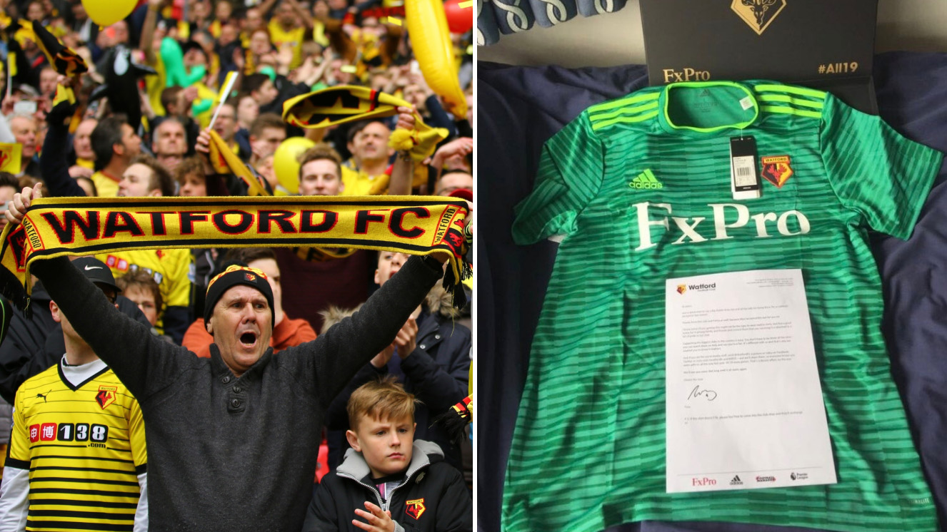 Watford away kit revealed to supporters by mail (photos)