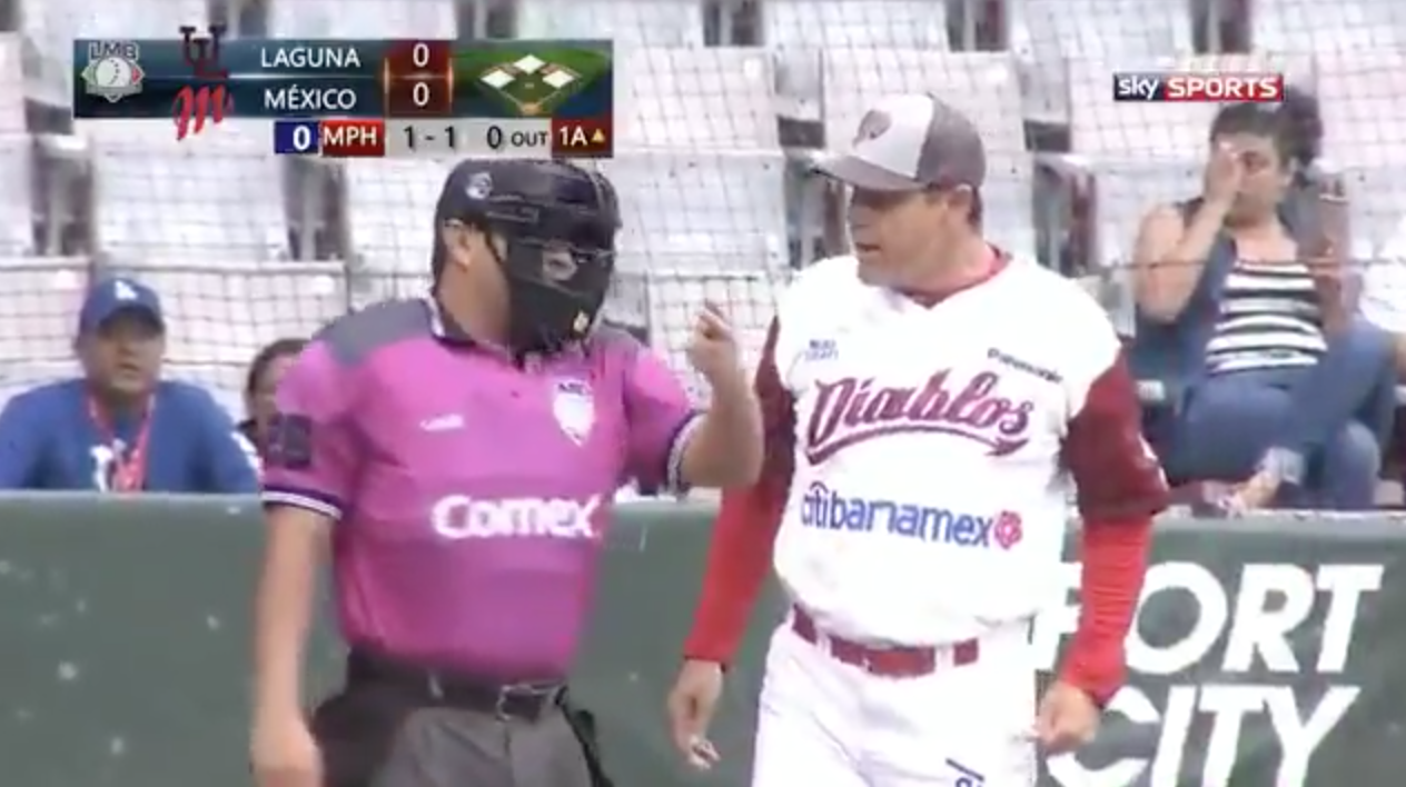 Mexican League umpires suspended after missed call (video)
