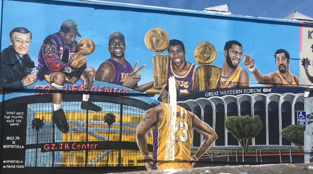 Second LeBron James Mural in Los Angeles Vandalized, Fans Help Artist Repaint | Sports Illustrated