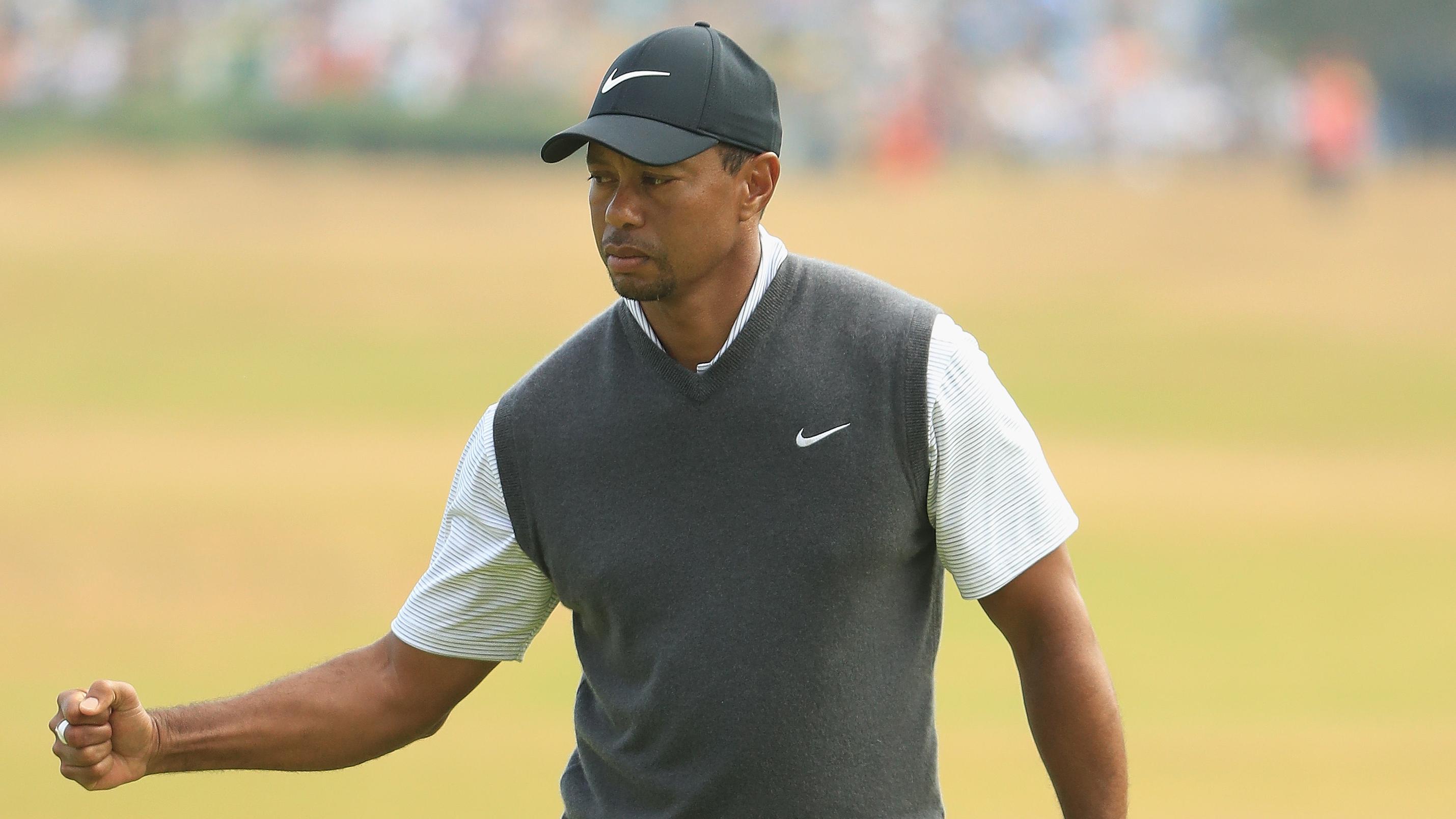 Tiger Woods saturday carnoustie british open
