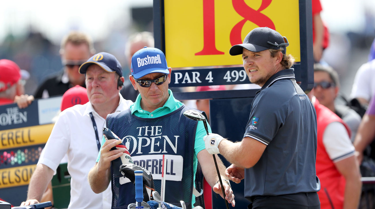Eddie Pepperell says he was hungover at Open Championship