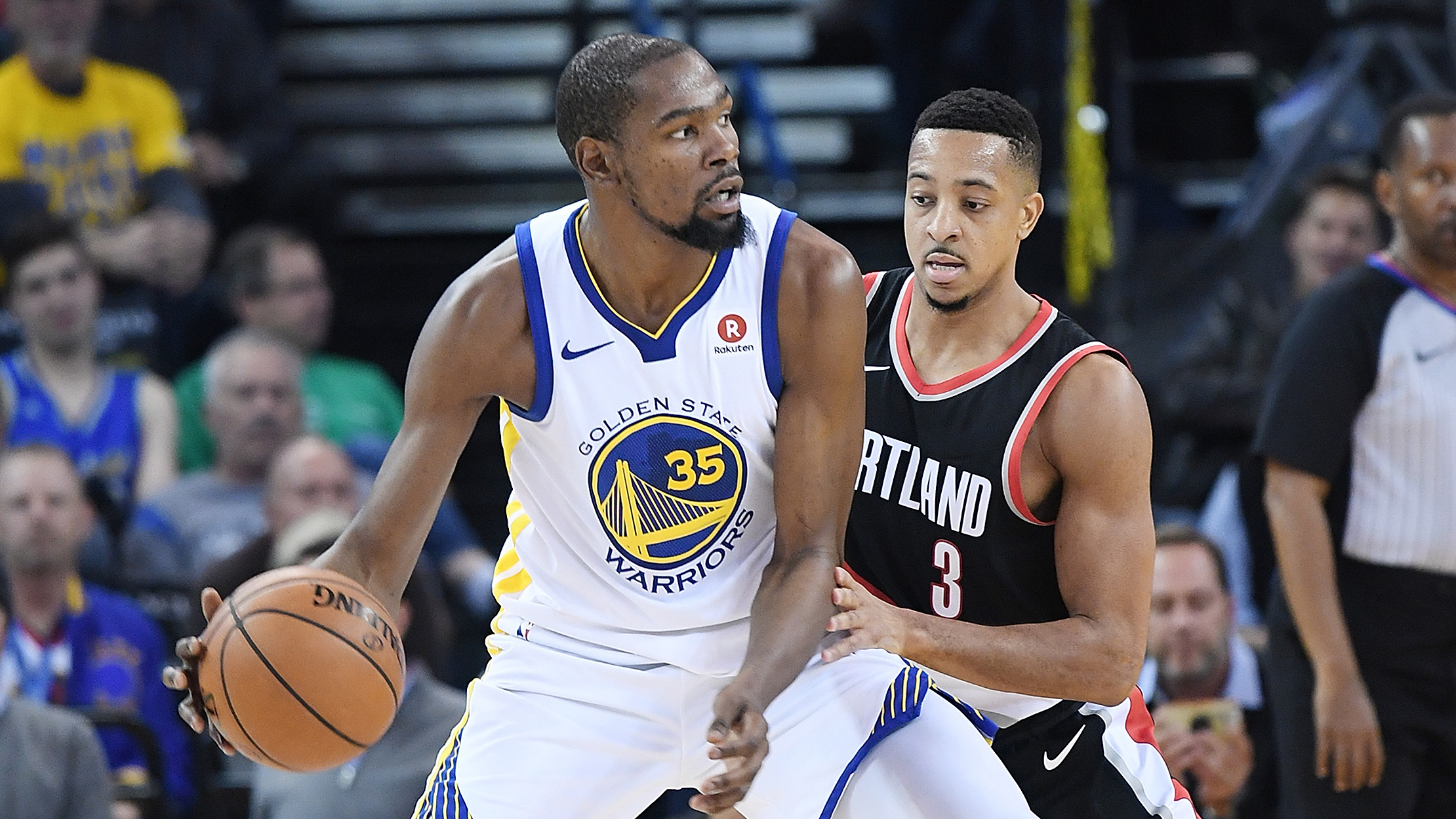 Kevin Durant-CJ McCollum beef on Twitter over DeMarcus Cousins