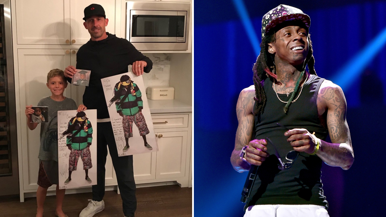 49ers coach Kyle Shanahan's son Carter named after Lil Wayne