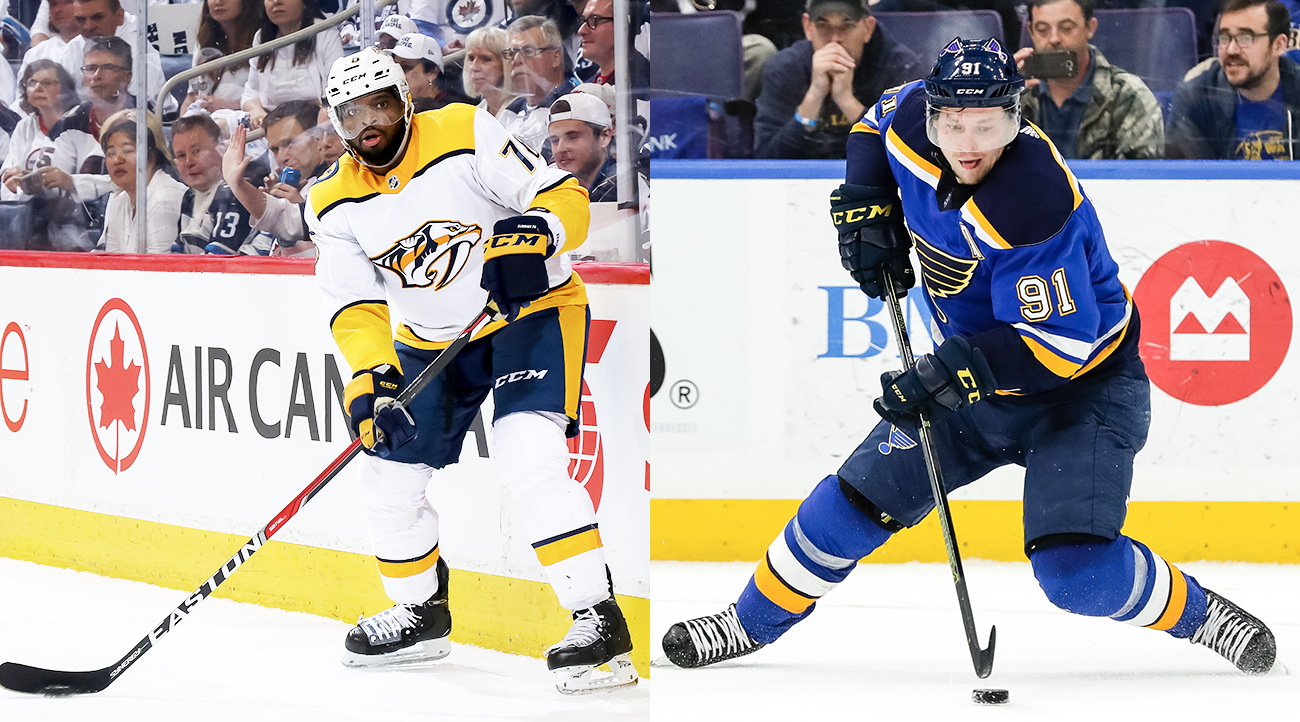 Predators D P.K. Subban and Blues RW Vladimir Tarasenko