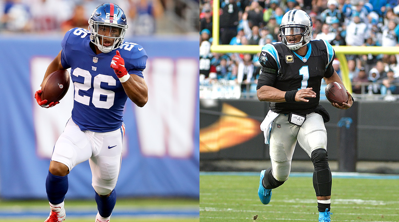 Giants RB Saquon Barkley and Panthers QB Cam Newton
