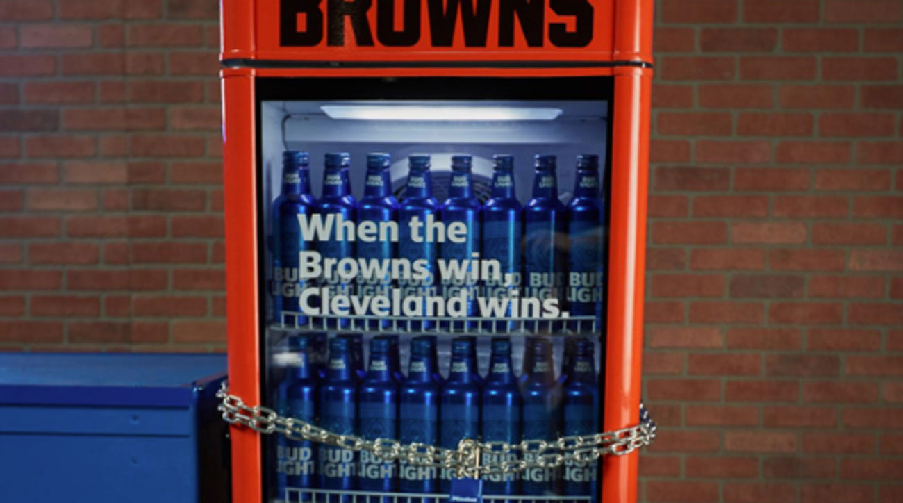 Bud Light 'Victory Fridges' Open in Cleveland After Browns Beat Jets   Sports Illustrated