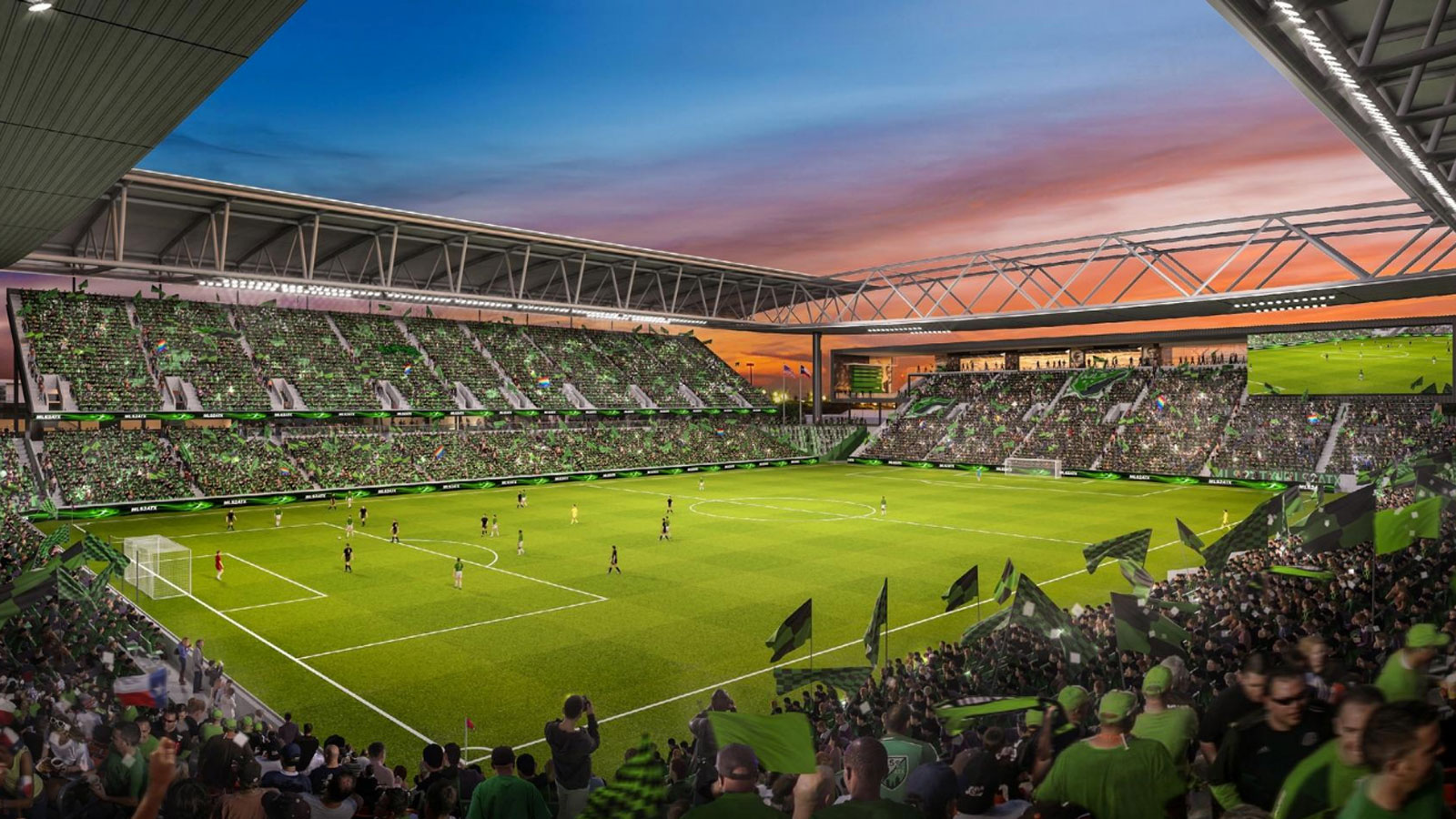 A rendering of what the Columbus Crew's stadium in Austin could look like