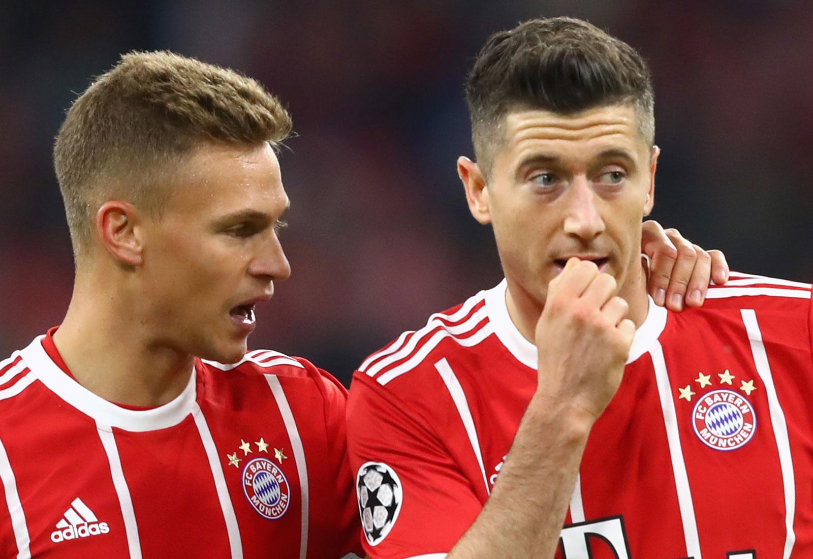 Joshua Kimmich and Robert Lewandowski guide Bayern Munich in the Bundesliga