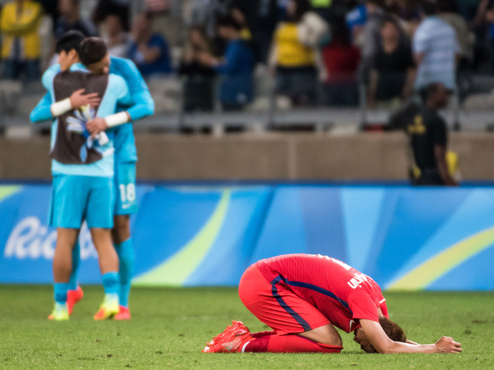 Son Heung-min and South Korea lose to Honduras in the 2016 Olympics