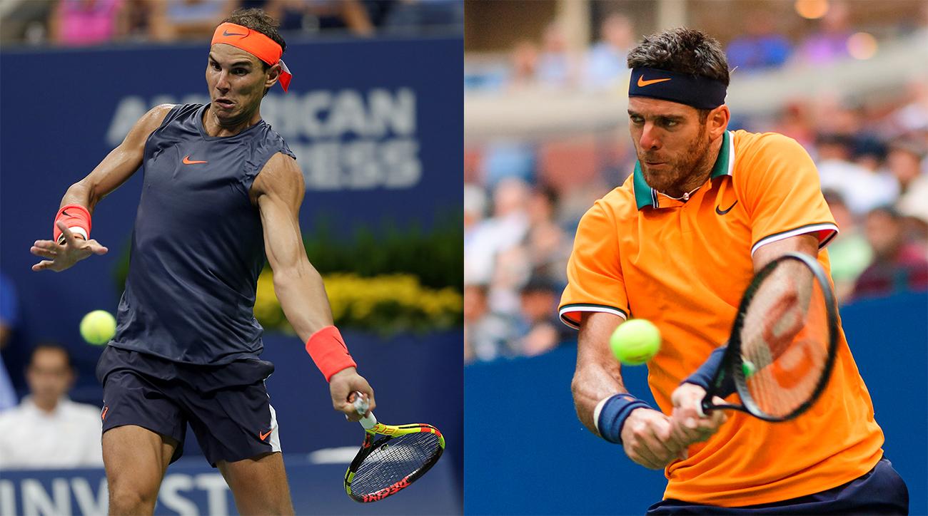 Rafa Nadal Juan Martin del Potro US Open semifinals