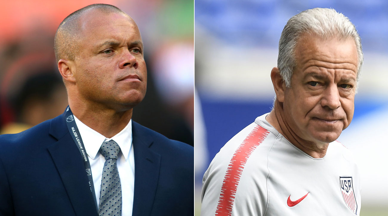 Earnie Stewart is the U.S. men's national team GM, while Dave Sarachan is its coach