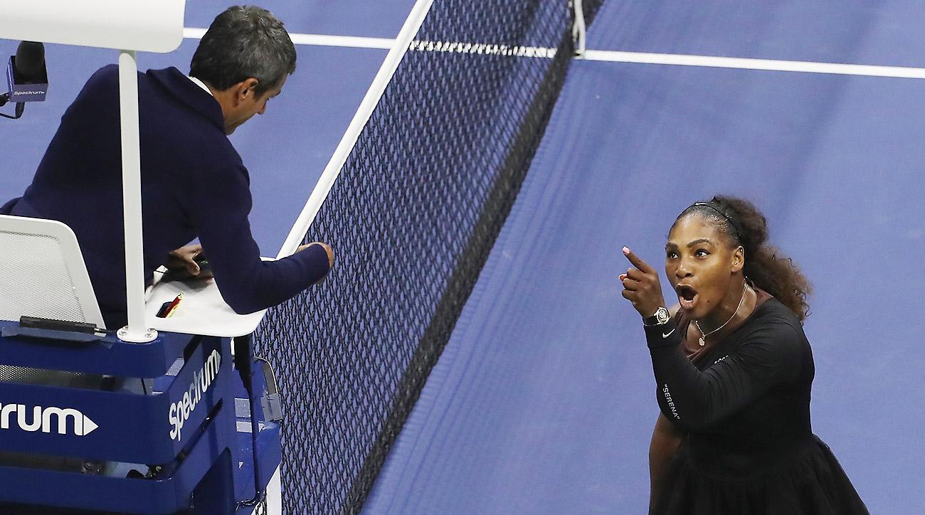 Serena Williams, Chair Umpire Carlos Ramos