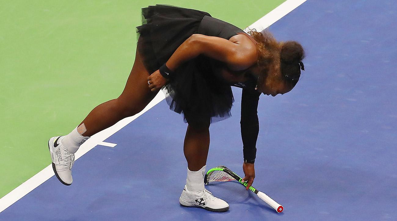 Serena Williams Racket Smash