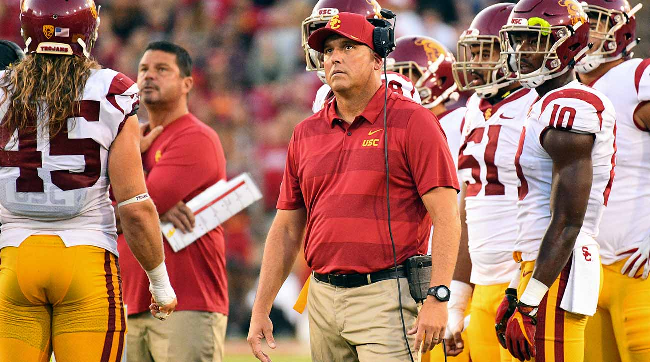 Clay Helton, USC in different position than Florida, Jim McElwain