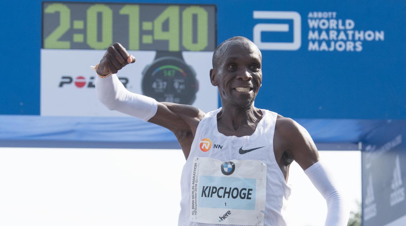 eliud kipchoge marathon world record berlin 2018