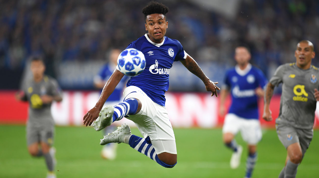 Weston McKennie assists on a goal for Schalke in the Champions League