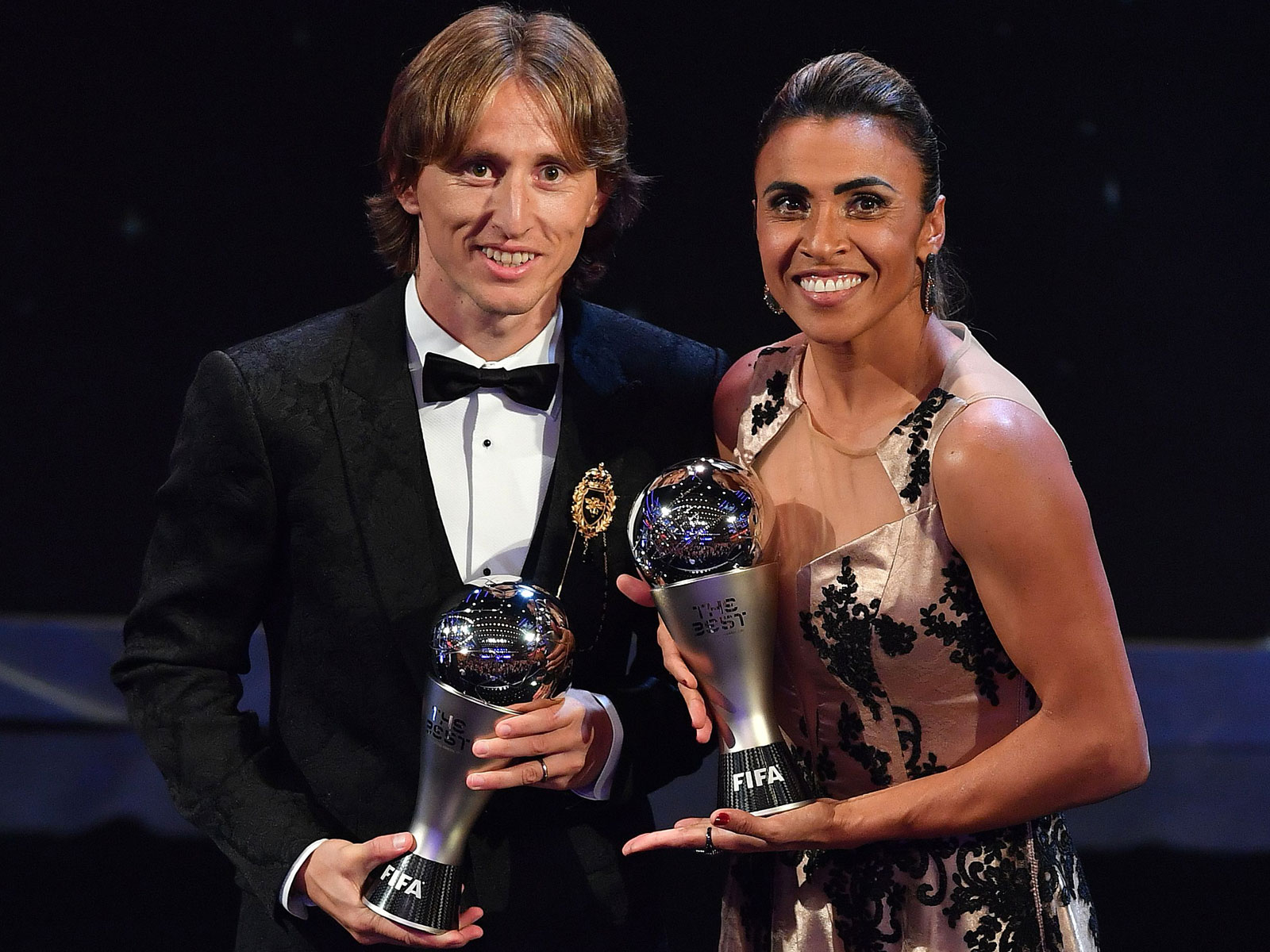 Luka Modric and Marta have won FIFA's Best Player awards