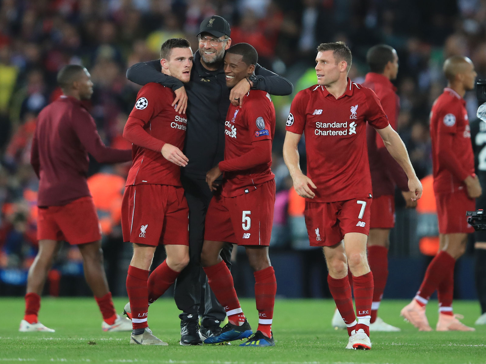 Jurgen Klopp and Liverpool beat PSG in Champions League