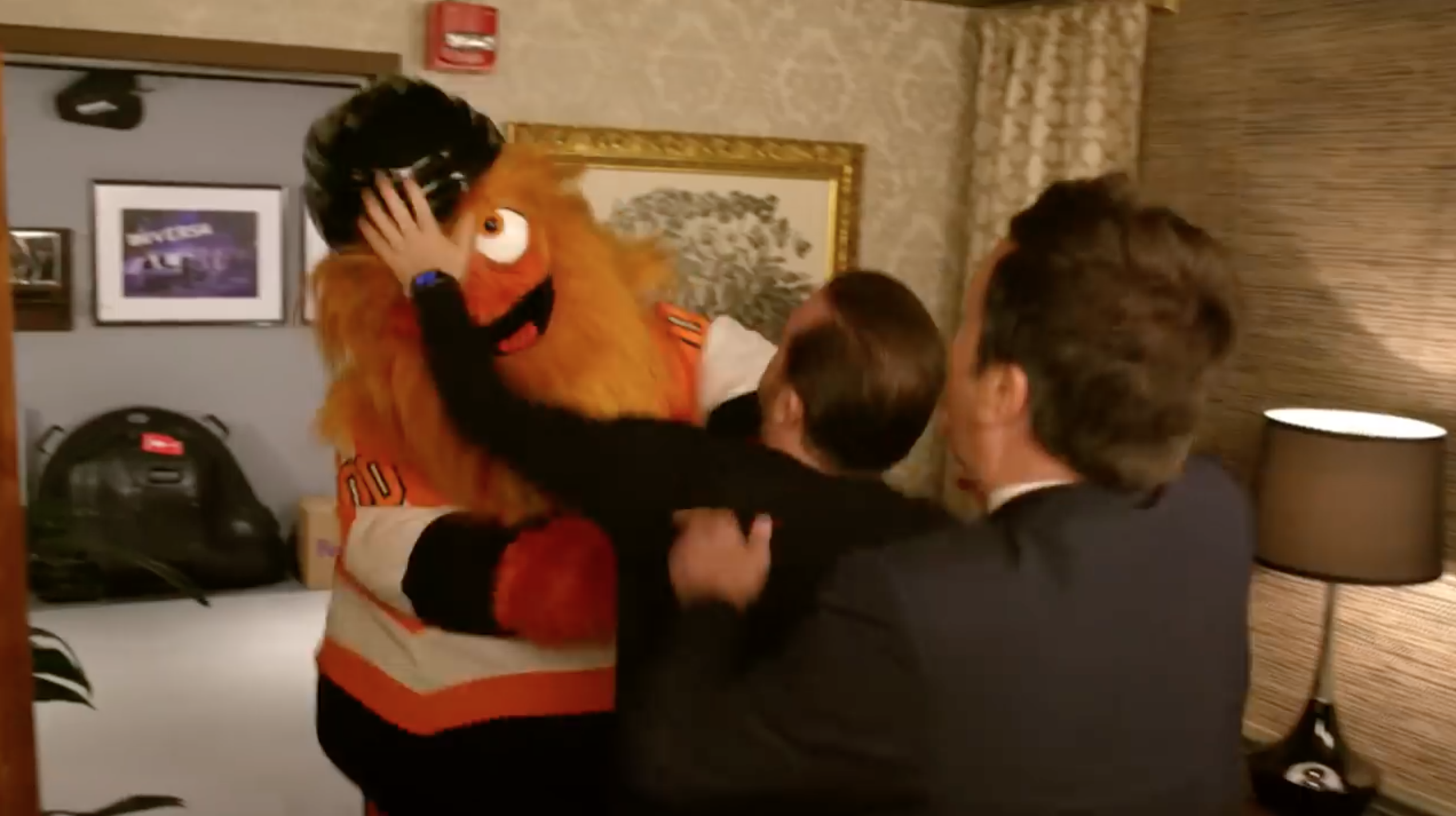Gritty dances and fights with Jimmy Fallon on 'The Tonight Show'