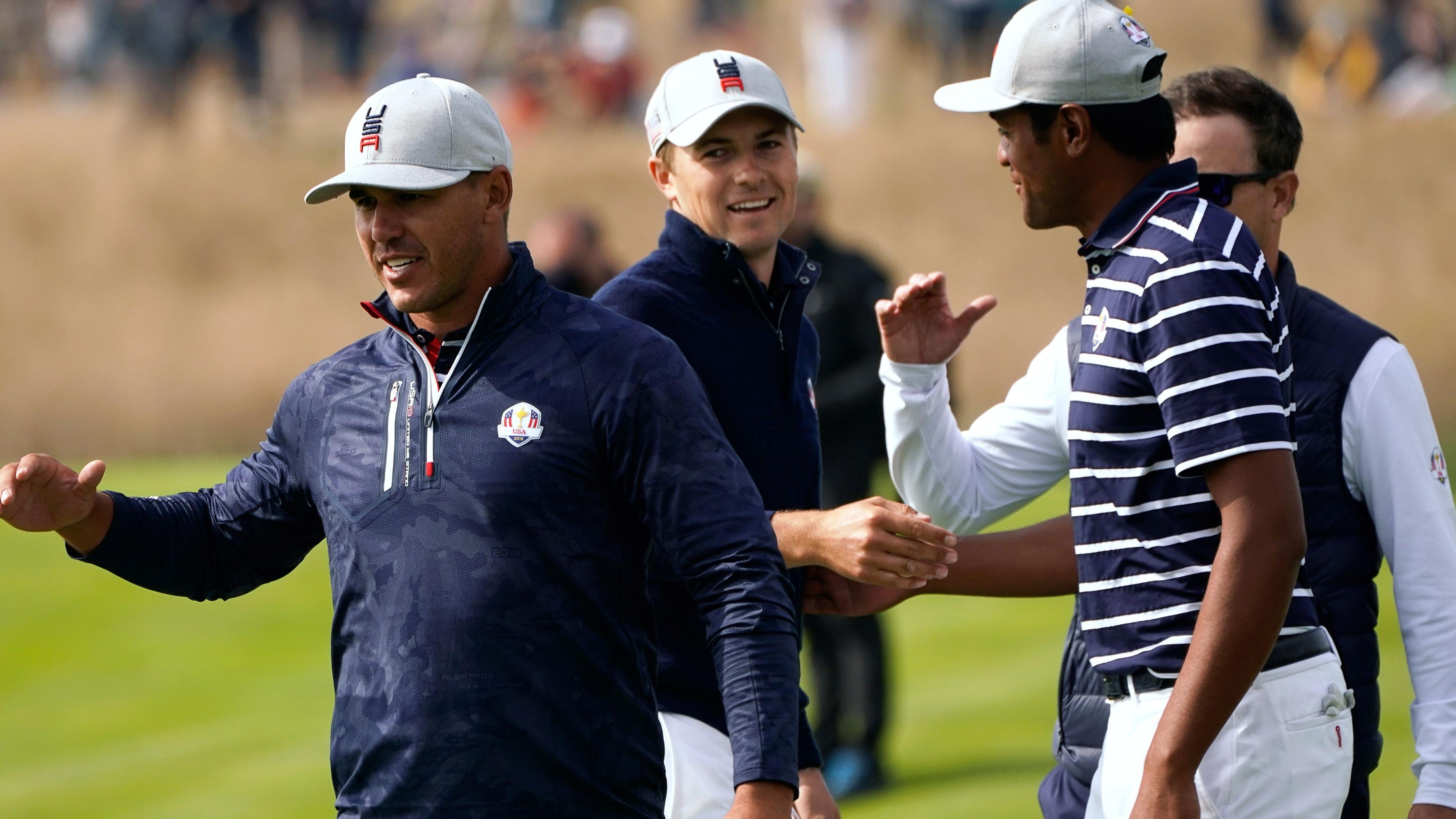 Le Golf National Ryder Cup 18th hole Justin THomas Jordan Spieth