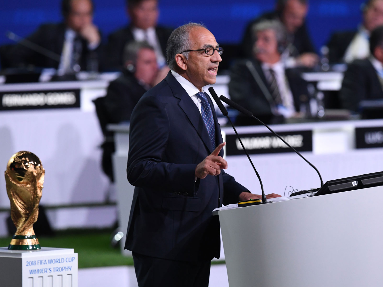 US Soccer president Carlos Cordeiro speaks at the FIFA Congress