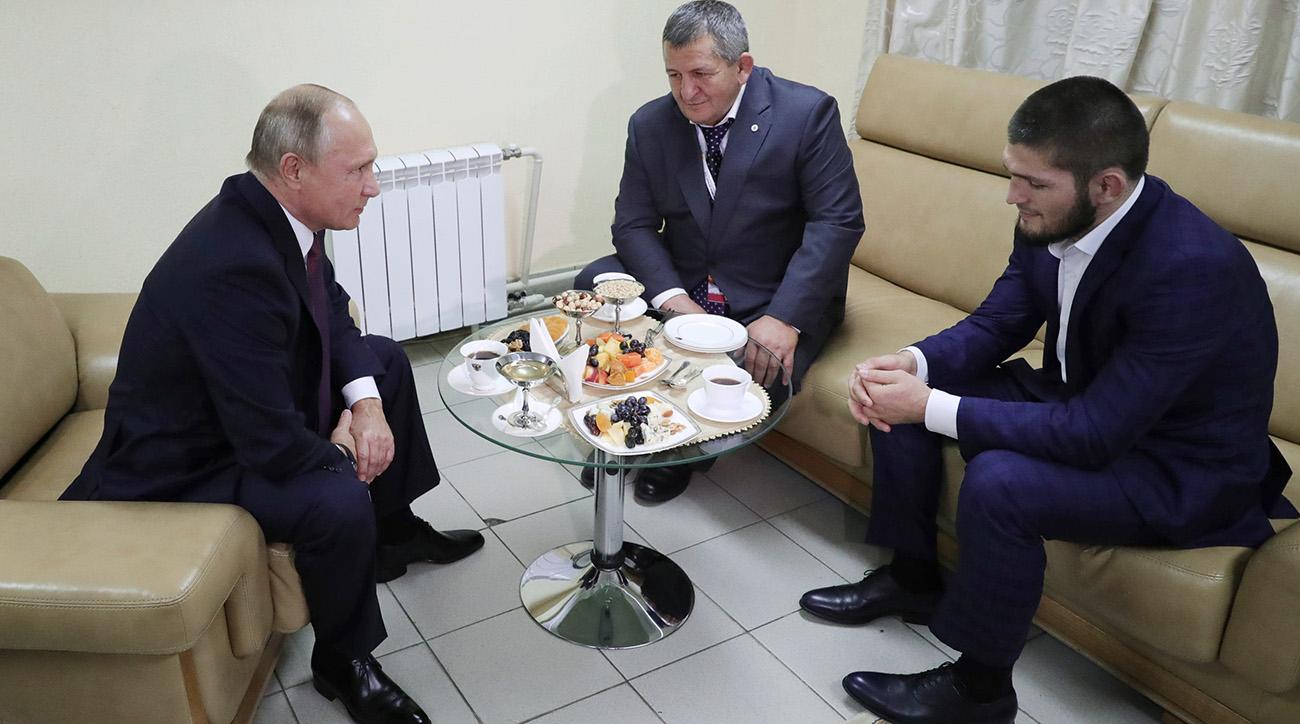 UFC 229, khabib nurmagomedov, conor mcgregor, Russian president Vladimir Putin, Putin