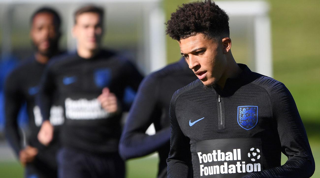 Jadon Sancho, 18, has received an England call-up