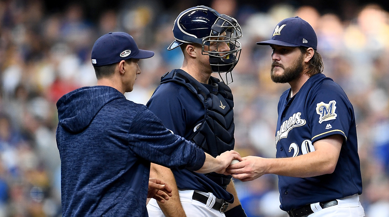 Brewers manager Craig Counsell removing SP Wade Miley