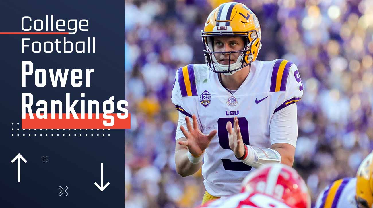College football Power Rankings: LSU chasing Alabama