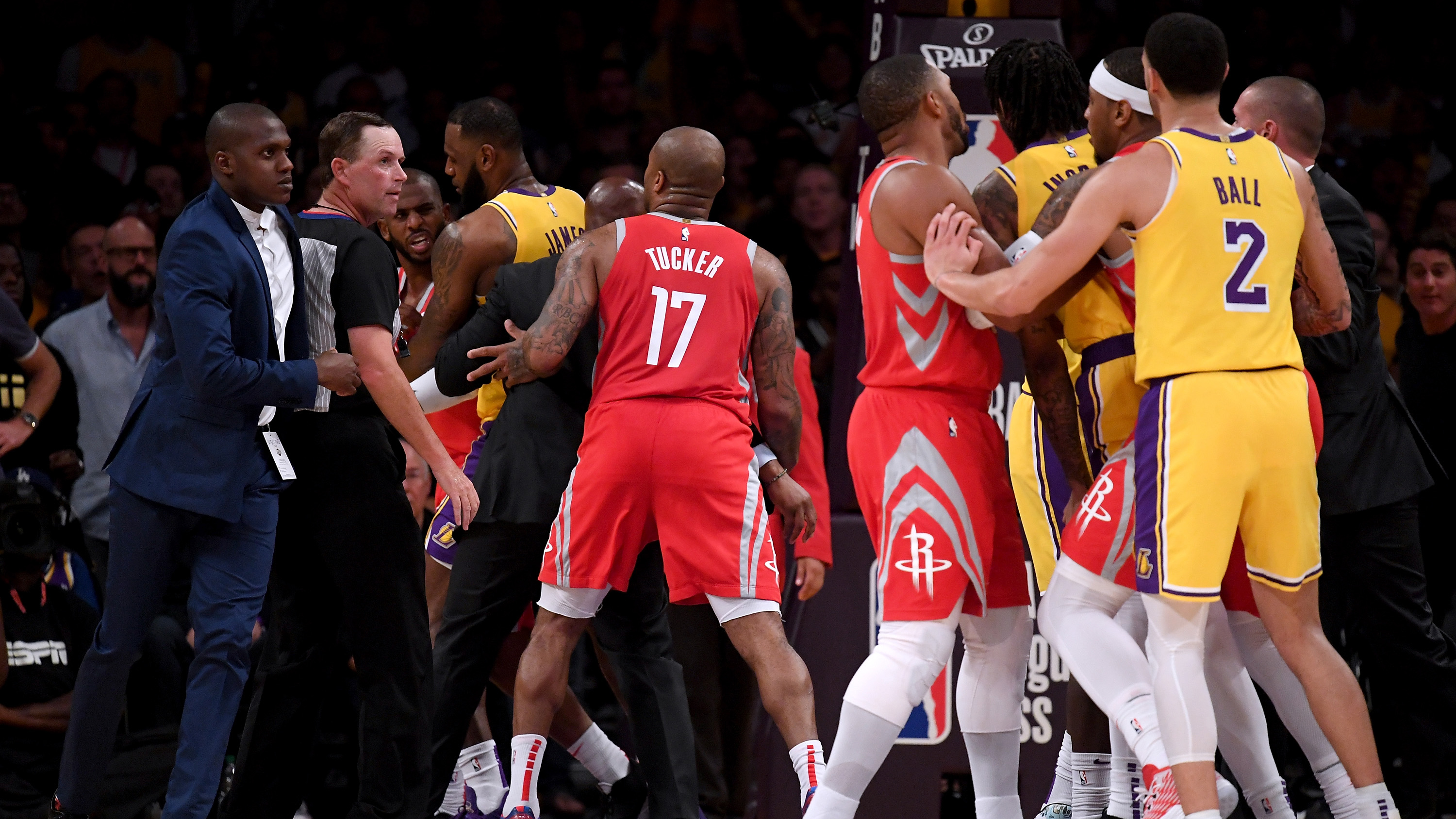 Rockets Fight Paul Rondo Ingram Suspended By Nba Si Com