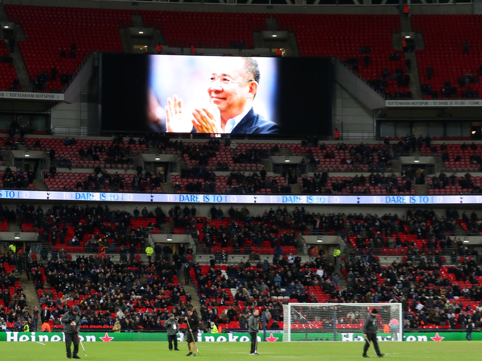 Vichai Srivaddhanaprabha was remembered at Man City's win over Tottenham