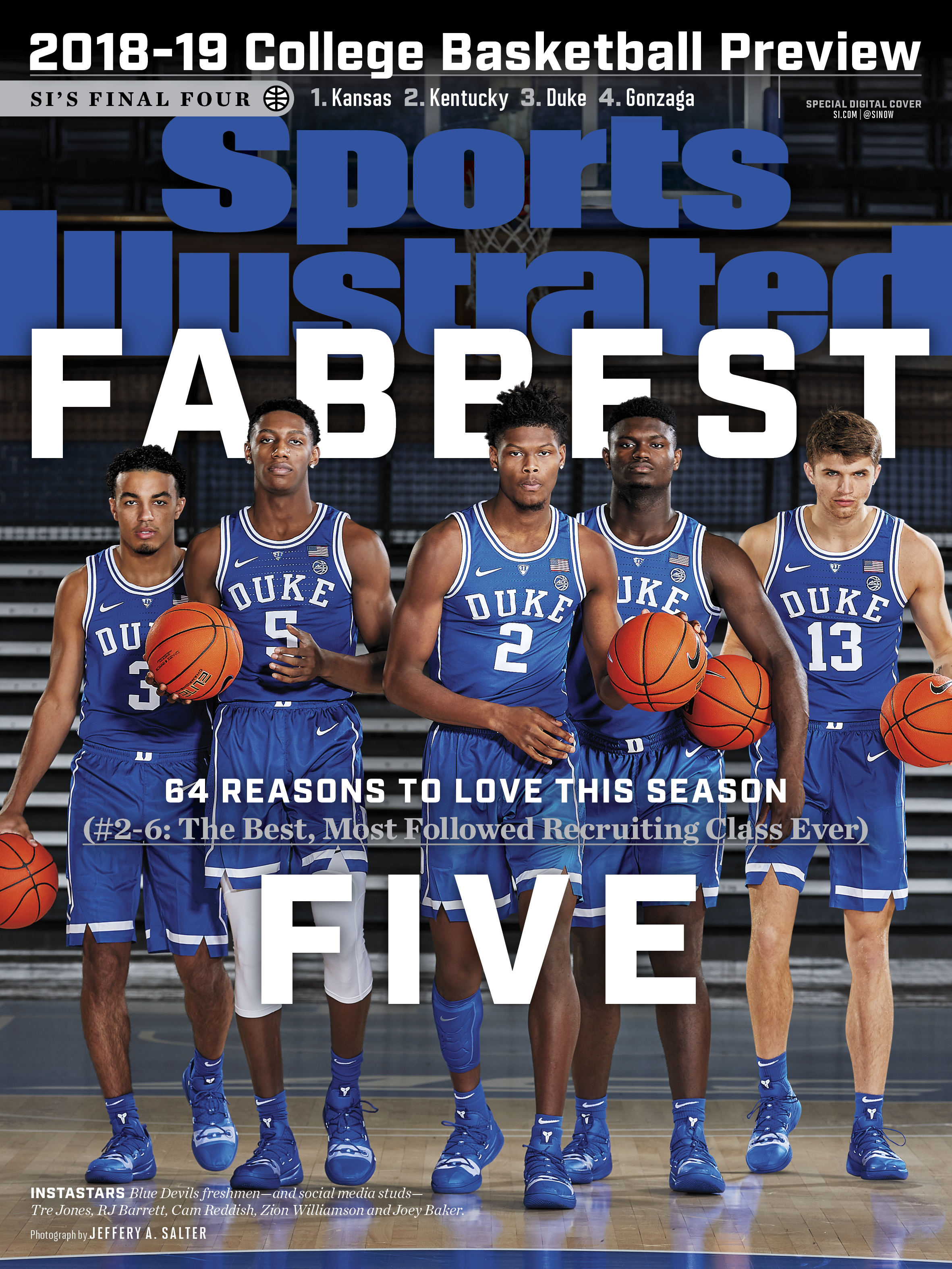 sports illustrated college preview cover 2018-19