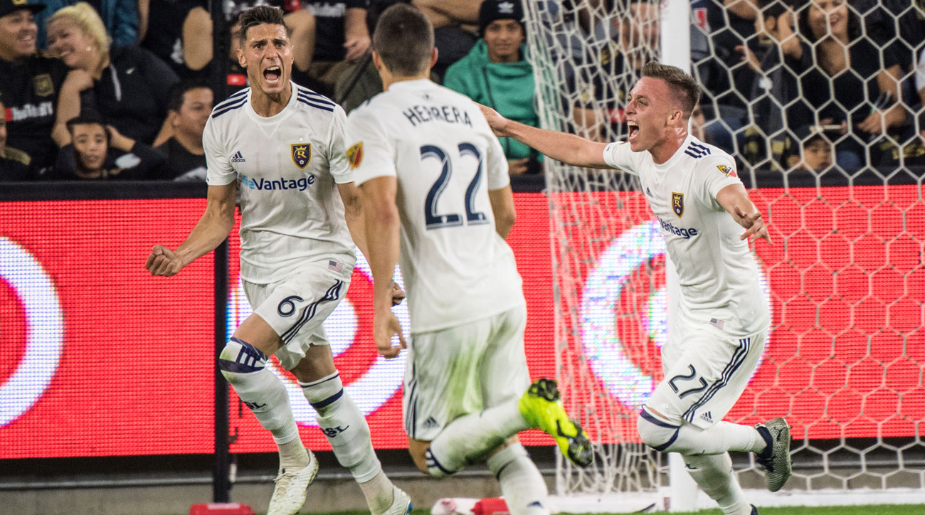 Damir Kreilach scores for Real Salt Lake vs. LAFC