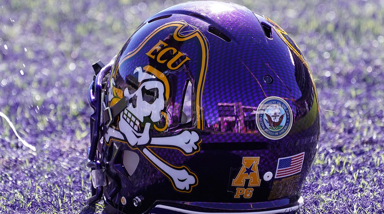 ECU football helmet