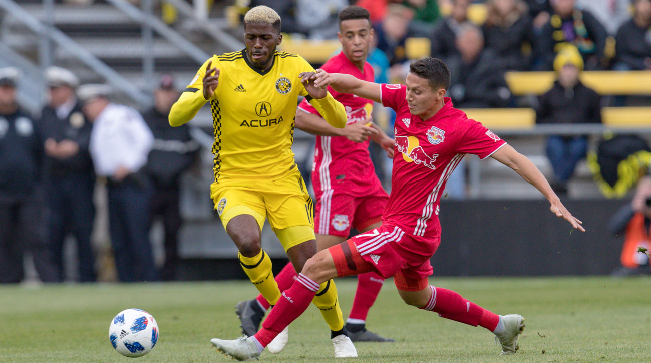 The Columbus Crew and New York Red Bulls meet in the 2018 MLS playoffs