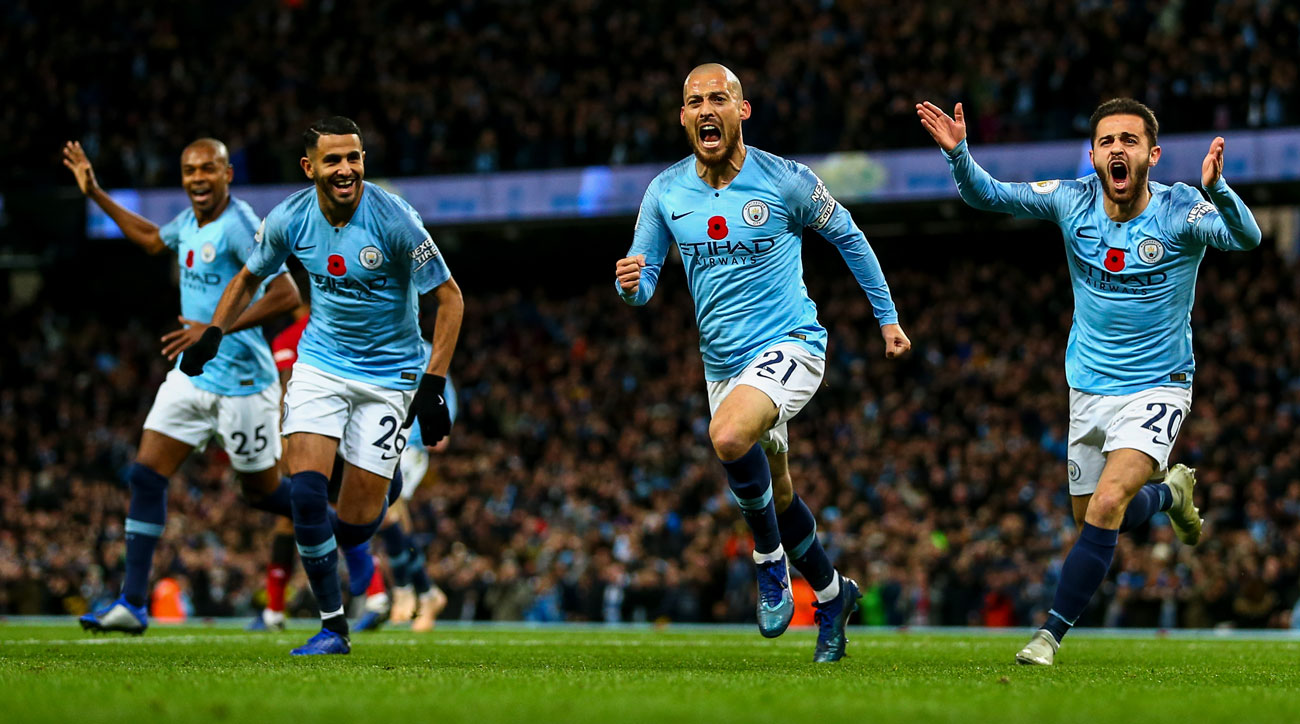 Manchester City beats Manchester United in the Premier League