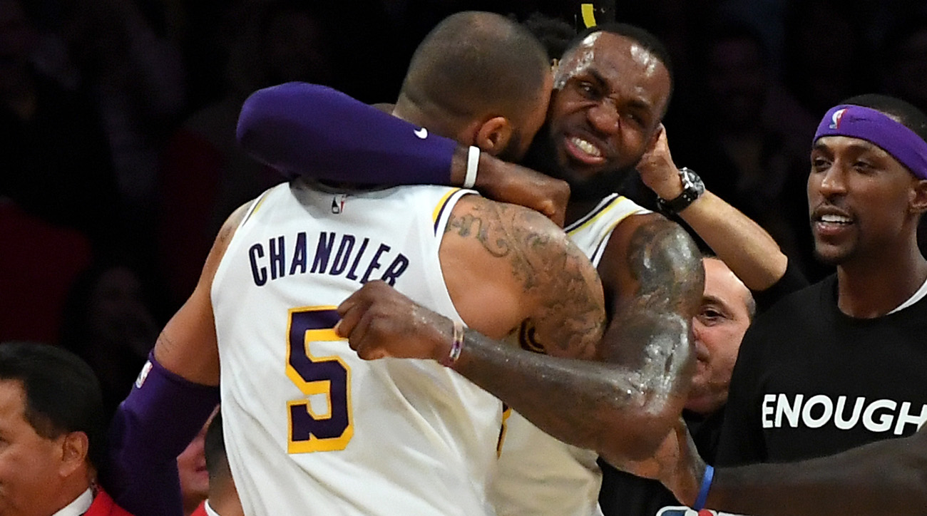 LeBron James's Dunk, Tyson Chandler's Crucial Block See Lakers Move Into Eighth Seed | Sports Illustrated