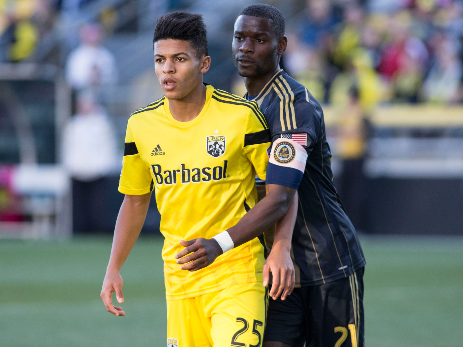 Romain Gall with the Columbus Crew in 2014