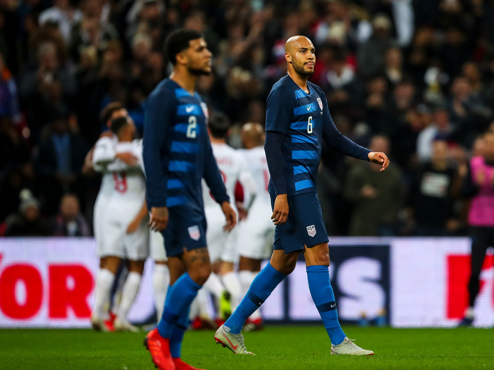 The USA falls to England in a friendly