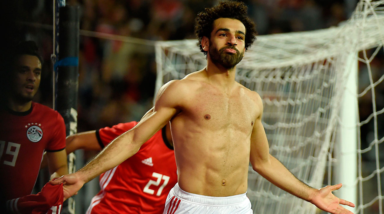 Mohamed Salah scores for Egypt vs. Tunisia