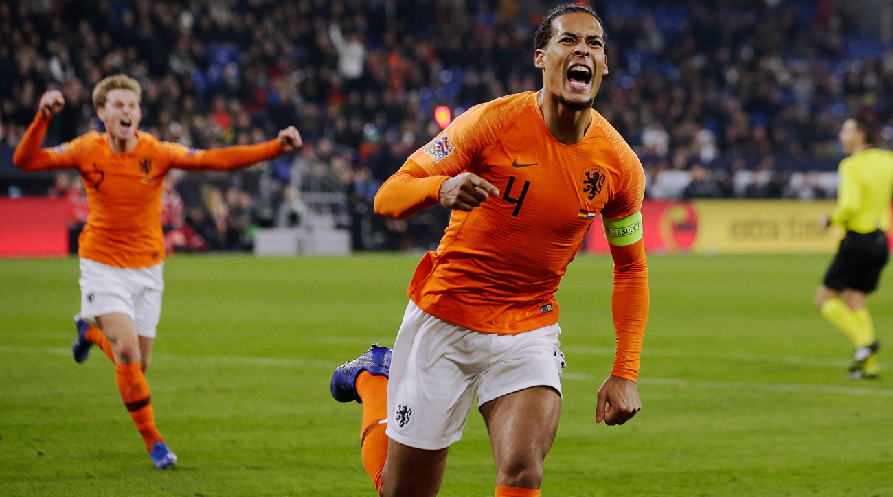 Virgil Van Dijk scores the late equalizer vs. Germany
