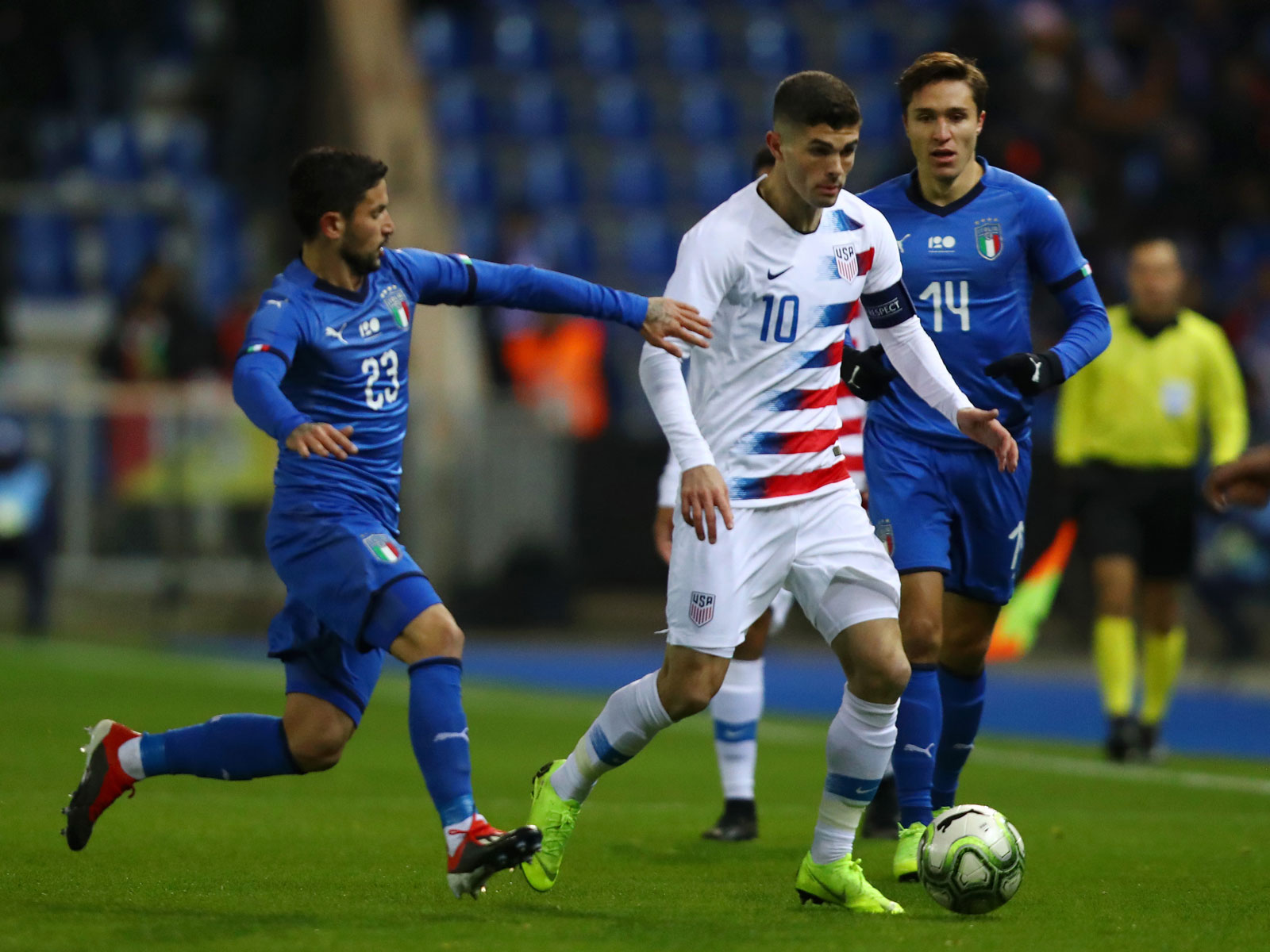Christian Pulisic captains the USA vs. Italy