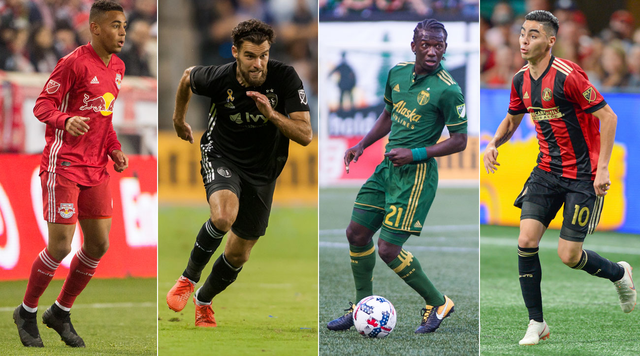 The New York Red Bulls, Sporting Kansas City, Portland Timbers and Atlanta United remain alive in the MLS playoffs