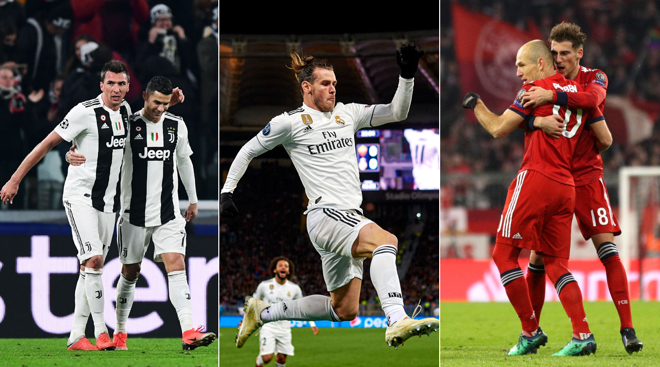 Juventus, Real Madrid and Bayern Munich seal their places in the Champions League round of 16
