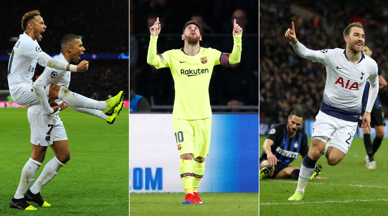 PSG, Barcelona and Tottenham all win in the Champions League